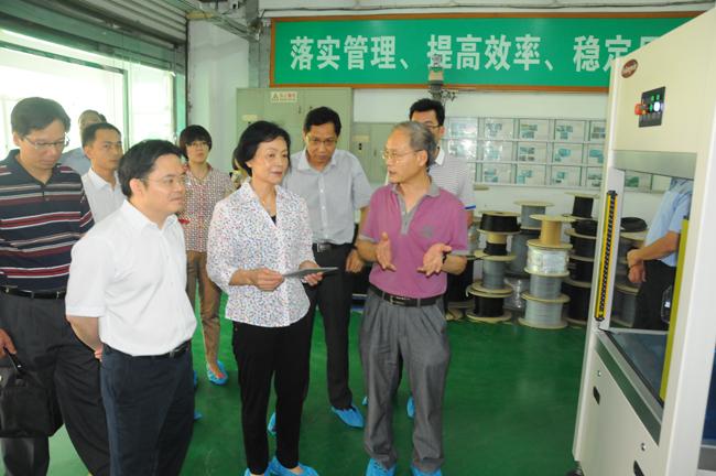 市委常委李小梅莅临科隆威自动化设备有限公司
